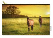 Horses At Sunset Carry-all Pouch