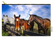 Horses At The Fence Carry-all Pouch