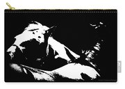Horses - Black And White Carry-all Pouch
