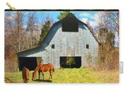 Horses Call This Old Barn Home Carry-all Pouch