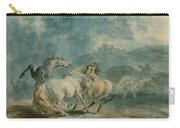 Horses Fighting Carry-all Pouch