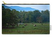 Horses Graze At Dawn Carry-all Pouch