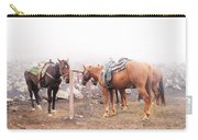 Horses In The Mist - Haleakala Carry-all Pouch