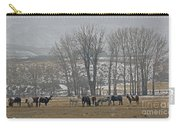 Horses In The Snow   #7940 Carry-all Pouch