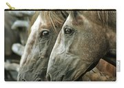 Horses Looking Through The Fence Carry-all Pouch