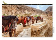 Horses Of Petra Carry-all Pouch