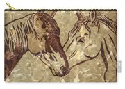 Horses On Marble Carry-all Pouch