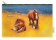 Horses On The Coast Of Brittany Carry-all Pouch