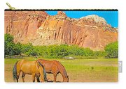 Horses On The Gifford Farm In Fruita In Capitol Reef National Park-utah Carry-all Pouch