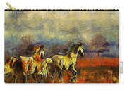Horses On The Gogh Carry-all Pouch