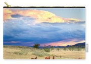 Horses On The Storm 2 Carry-all Pouch by James BO  Insogna