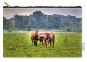 Horses Socialize Carry-all Pouch
