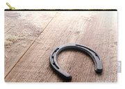 Horseshoe On Wood Floor Carry-all Pouch