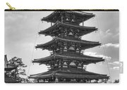 Horyu-ji Temple Pagoda B W - Nara Japan Carry-all Pouch