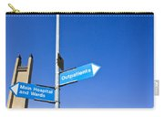 Hospital Signs Carry-all Pouch by Tom Gowanlock
