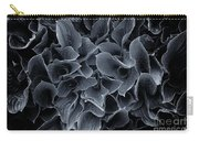 Hosta Leaves Bw Carry-all Pouch