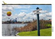 Hot Air Balloon And Old Key West Port Orleans Signage Disney World Carry-all Pouch