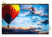 Hot Air Balloon And Powered Parachute Carry-all Pouch by Bob Orsillo