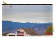 Hot Air Balloon Boulder Flag Barn And Eldora  Carry-all Pouch