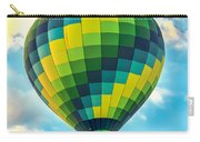 Hot Air Balloon Checkerboard Carry-all Pouch