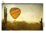 Hot Air Balloon Flight Over The Southwest Desert Fine Art Print  Carry-all Pouch