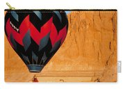 Hot Air Balloon Over Thebes Temple Carry-all Pouch by John G Ross