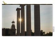 Hot Barcelona Afternoon - Magnificent Columns And Brilliant Sun Flares Carry-all Pouch
