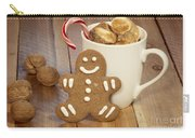 Hot Cocoa And Gingerbread Cookie Carry-all Pouch by Juli Scalzi