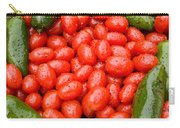 Hot Peppers And Cherry Tomatoes Carry-all Pouch by James BO  Insogna
