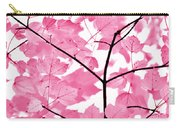 Hot Pink Leaves Melody Carry-all Pouch