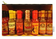 Hot Sauce Display Shelf Two Carry-all Pouch
