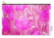 Hot Stuff   In Your Face Pink Tulips Carry-all Pouch