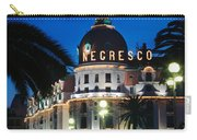 Hotel Negresco Carry-all Pouch by Inge Johnsson