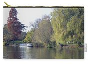 House Boat On River Avon Carry-all Pouch