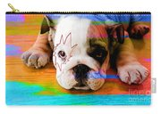 House Broken Bulldog Puppy Carry-all Pouch
