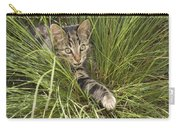 House Cat Hunting In Grass Germany Carry-all Pouch