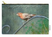 House Finch With Verse Carry-all Pouch