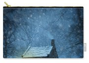 House In Woodland In Winter Carry-all Pouch