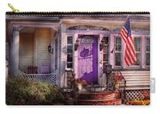 House - Porch - Cranford Nj - Lovely In Lavender  Carry-all Pouch