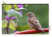 House Sparrow On A Wheel Carry-all Pouch