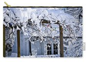 House Under Snow Carry-all Pouch