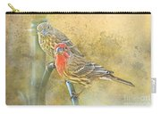 Housefinch Pair With Texture Carry-all Pouch