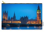 Houses Of Parliament Carry-all Pouch by Inge Johnsson