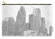 Houston Skyline Abstract Carry-all Pouch