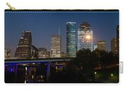 Houston Skyline At Night Carry-all Pouch