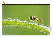 Hoverfly In Dew Carry-all Pouch