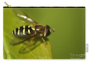 Hoverfly On A Leaf Carry-all Pouch