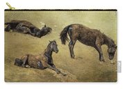 How A Black Horse Turns Brown - Pryor Mustangs Carry-all Pouch