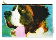 How Bout A Kiss - St Bernard Art By Sharon Cummings Carry-all Pouch by Sharon Cummings