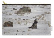Howlin' In The New Year   #3536-signed Carry-all Pouch
